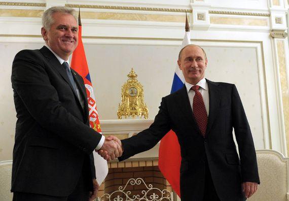 Soči 11.9.2012. g. - Predsednik Nikolić i predsednik Ruske Federacije Vladimir Putin, tokom radne posete Rusiji.