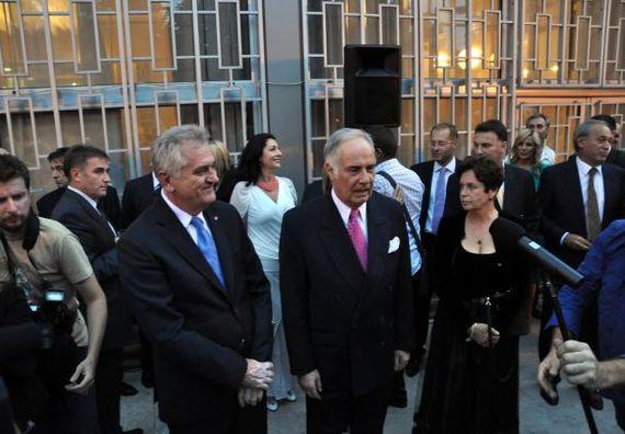 Beograd 13.9.2012. g. - Predsednik Nikolić na oproštajnom prijemu g. Aleksandra Konuzina, ambasdora Ruske Federacije u Beogradu.
