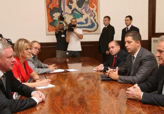 Beograd 6.9.2012. g. - Predsednik Nikolić sa Vladimirom Titovim, zamenikom ministra spoljnih poslova Ruske Federacije.