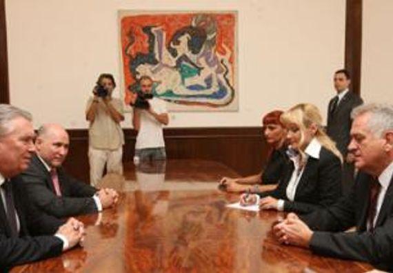 Beograd 7.9.2012. g. - Predsednik Nikolić sastao se sa predsednikom Britansko-srpske Privredne komore, ser Polom Džadžom.
