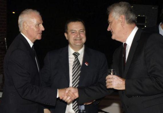 Београд 3.10.2012. г. - Председник Николић на пријему у амбасади Немачке поводом националног празника те земље.