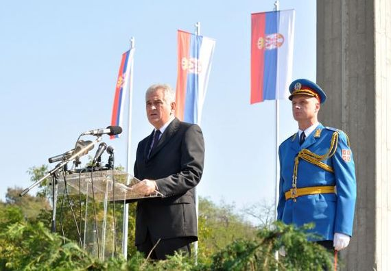 Београд  6.10.2012. г. - Обраћање председника Николића на комеморацији поводом сећања на жртве у Другом светском рату.