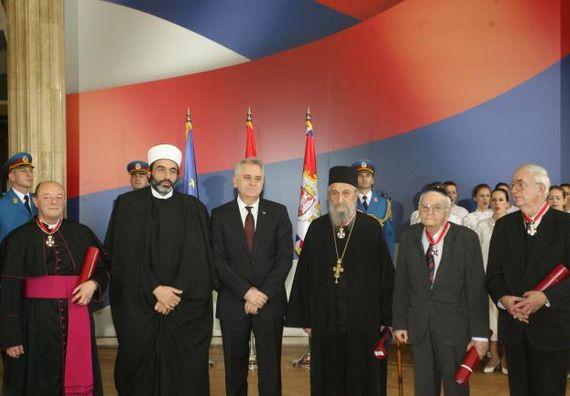 Београд 6.12.2012. год - Председник Николић уручио је Сретењске ордене другог степена.