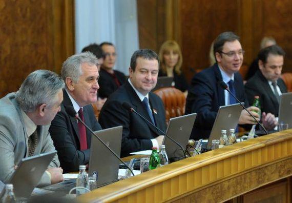 Beograd  9.1.2013 - Zajednička sednica Vlade i predsednika Nikolića o platformi za rešavanje kosovskog pitanja.