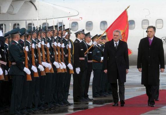 Podgorica 19.1.2013 - Predsednik Nikolić u zvaničnoj poseti Crnoj Gori.