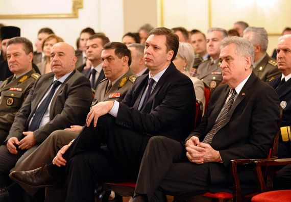 Beograd 1.3.2013. Predsednik Nikolić na svečanom prijemu pobodom 169 godina VMA.