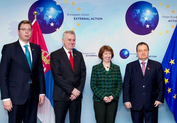 Брисел 11.3.2013. Државни врх у Бриселу са шефом европске дипломатије Кетрин Ештон.