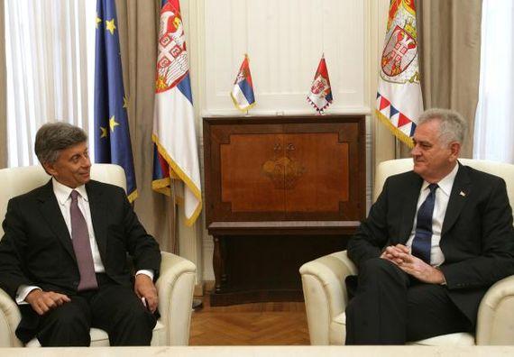 Beograd 20.8.2013. god. Predsednik Nikolić sa ambasadorom Grčke.