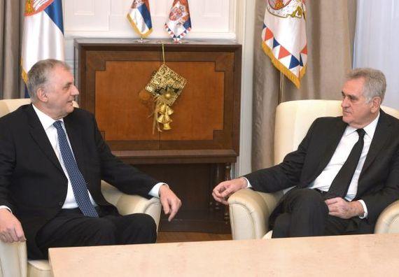Beograd, 14.1.2014. god. Predsednik Nikolić primio je u oproštajnu posetu ambasadora Crne Gore.