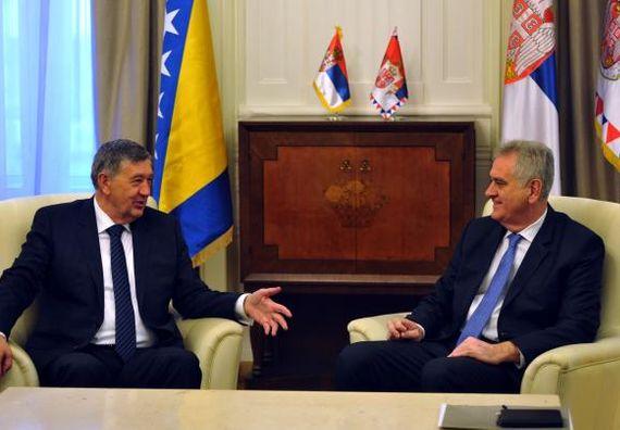 Beograd, 20.12.2013. god. Predsednik Nikolić sa članom Predsedništva Bosne i Hercegovine, Nebojšom Radmanovićem.