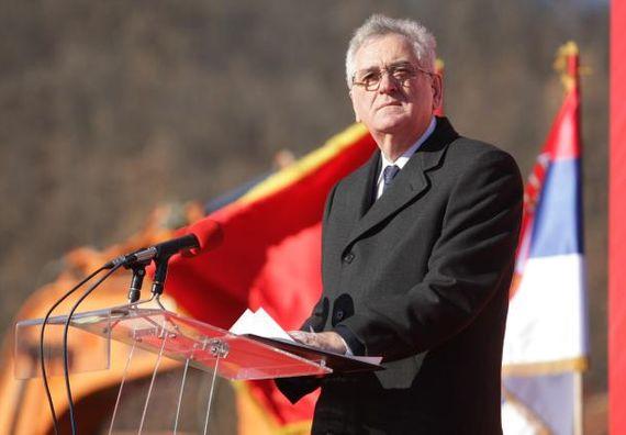 Ljig, 24.12.2013. god. Predsednik Nikolić označio početak radova na izgradnji deonice autoputa na Koridoru 11.