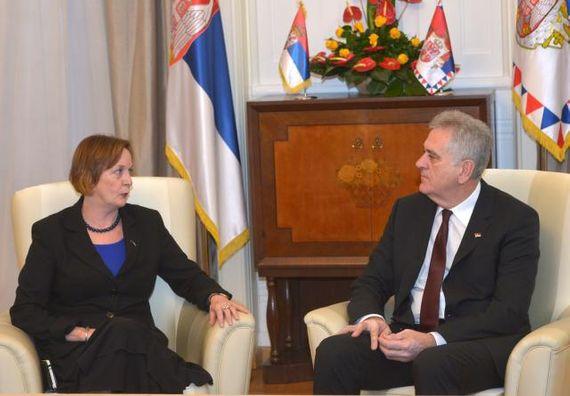 Београд, 25.11.2013. год, Председник Николић примио је у опроштајну посету амбасадора Аустралије.