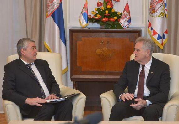 Београд, 25.11.2013. год, Председник Николић примио је у опроштајну посету амбасадора Украјине.