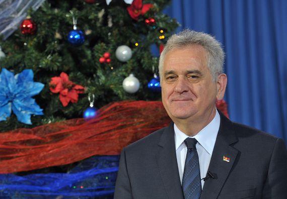 Beograd 31.12.2013. god. Novogodišnja čestitka predsednika Nikolića