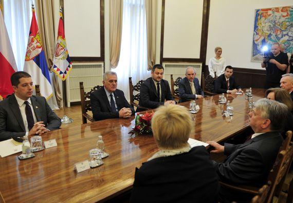 Beograd, 9.5.2014. god. Predsednik Nikolić sa delegacijom senata Republike Poljske.