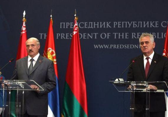Београд, 12.6.2014. год. Председник Николић са председником Белорусије Александром Лукашенком.