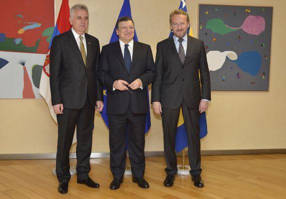 Brisel, 16.7.2014. god, Predsednik Nikolić na donatorskoj konferenciji za saniranje posledica majskih poplava u Srbiji.