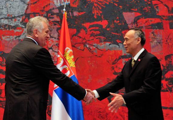 Beograd, 22.7.2014. god, Predsednik Nikolić primio akreditivna pisama ambasadora Kine.
