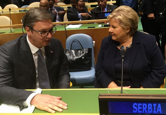 Ministar spoljnih poslova Norveške Berge Brende i predsednik Vučić