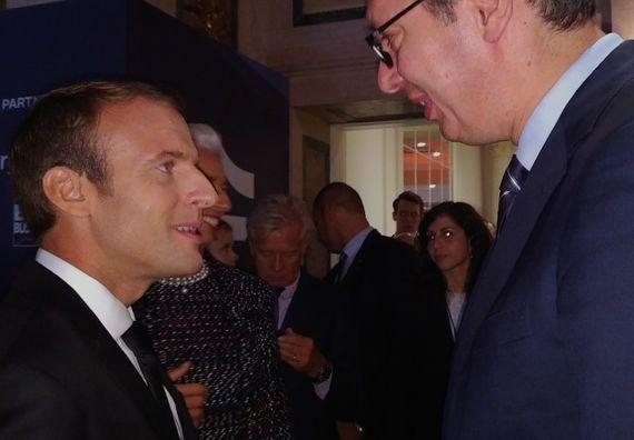 Predsednik Francuske Emanuel Makron i predsednik Vučić