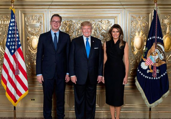 Predsednik Vučić sa predsednikom SAD Donaldom Trampom i prvom damom Melanijom Tramp