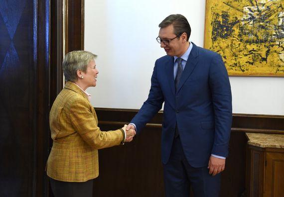 Predsednik Vučić sa zamenicom generalnog sekretara NATO Rouz Gotemeler