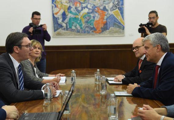 Predsednik Vučić sa generalnim sekretarom Nordijskog saveta ministara Dagfinom Hejbrotenom
