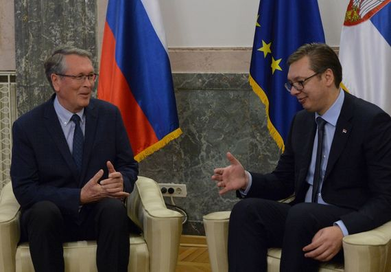 Predsednik Vučić sa ambasadorom Ruske Federacije Aleksandrom Čepurinom