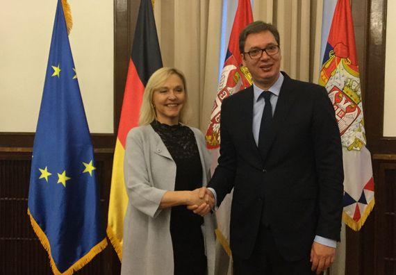 Predsednik Vučić sa ministarkom za evropske poslove Bavarske Beate Merk