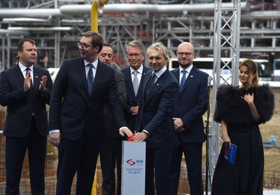 "Obeležavanje početka izgradnje projekta ""Duboka prerada"" u Rafineriji nafte Pančevo, Foto Tanjug, Dragan Kujundžić"