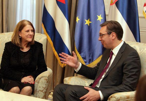 Састанак председника Вучића са амбасадорком Републике Кубе Аделом Мајром Руиз Гарсијом, Фото Тањуг, Сава Радовановић