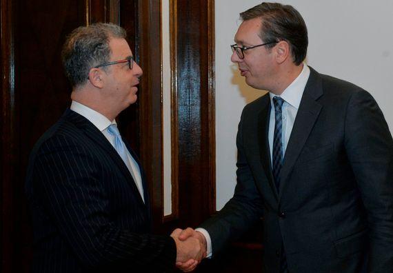 Predsednik sa glavnim tužiocem Haškog tribunala Seržom Bramercom, Foto Tanjug, Rade Prelić