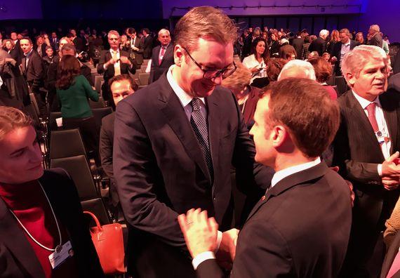 Sa predsednikom Francuske na Svetskom ekonomskom forumu u Davosu #WEF2018