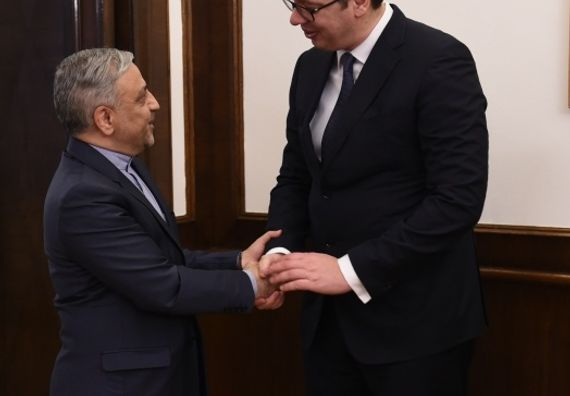 Са амбасадором Ирана у Београду Хусеином Мола Абдолахијем, Фото Танјуг, Драган Кујунџић