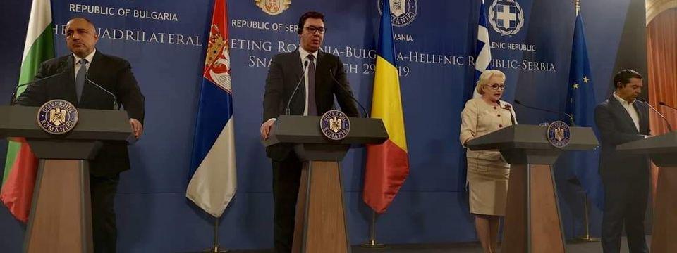 Председник Вучић на састанку Високог савета за сарадњу Румуније, Србије, Грчке и Бугарске