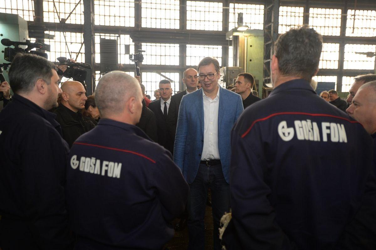 Predsednik Vučić obišao Podunavski okrug u okviru kampanje