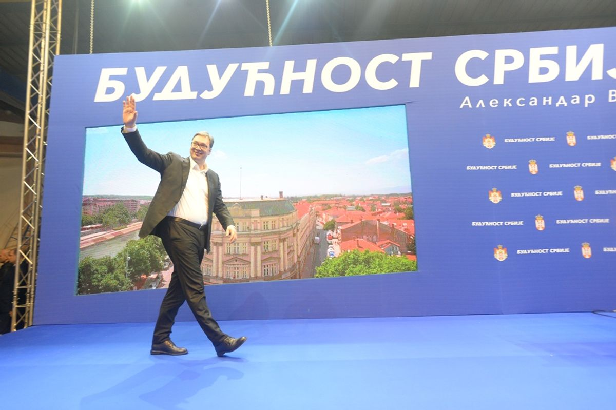 Председник Вучић обишао Рашки округ у оквиру кампање