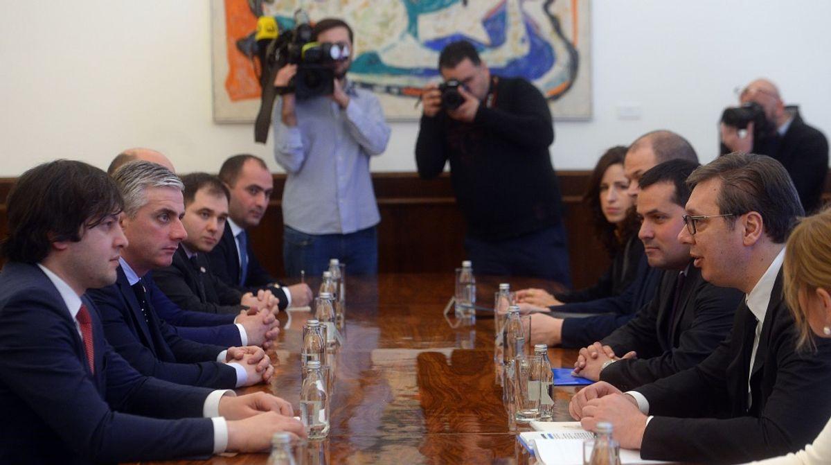 Састанак са председником Парламента Грузије Ираклијем Кобакхидзеом