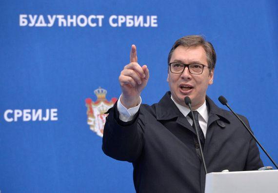 """Predsednik Vučić u Novom Sadu u okviru kampanje """"Budućnost Srbije"""""""