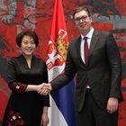 Председник Вучић примио је акредитивна писма новоименоване амбасадорке Народне Републике Кине