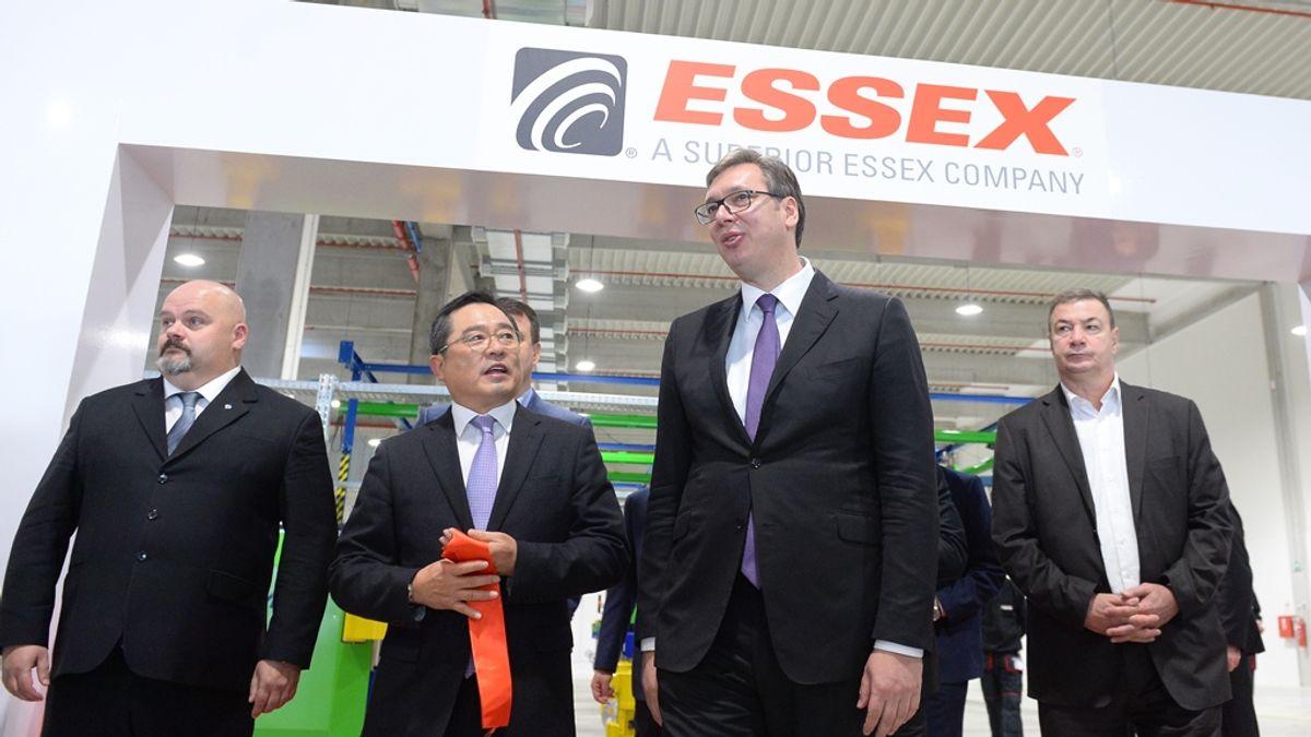 Председник Вучић на свечаном отварању првог погона компаније Essex Europe у Зрењанину
