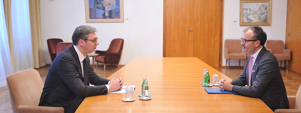 Састанак са амбасадором и шефом Делегације ЕУ у Србији