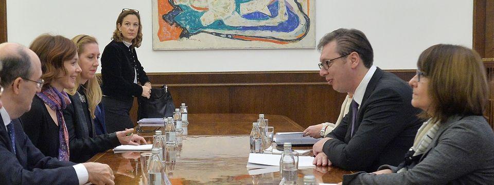 Састанак са председницом Одбора за спољне и европске послове Посланичког дома Републике Италије
