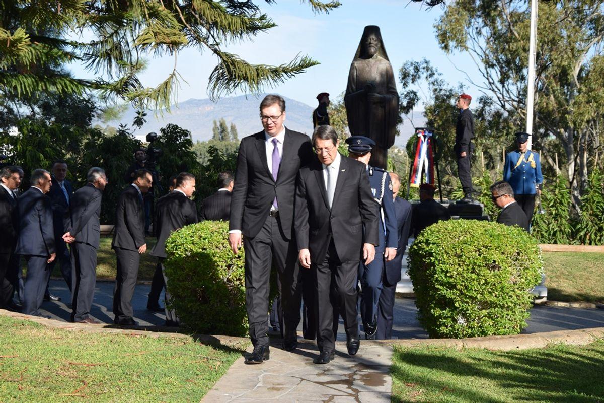 Председник Вучић у посети Никозији