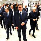 Predsednik Vučić na svečanom otvaranju proizvodnog pogona grupe Kalcedonija u Kuli