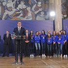 Председник Вучић са женском одбојкашком репрезентацијом Србије