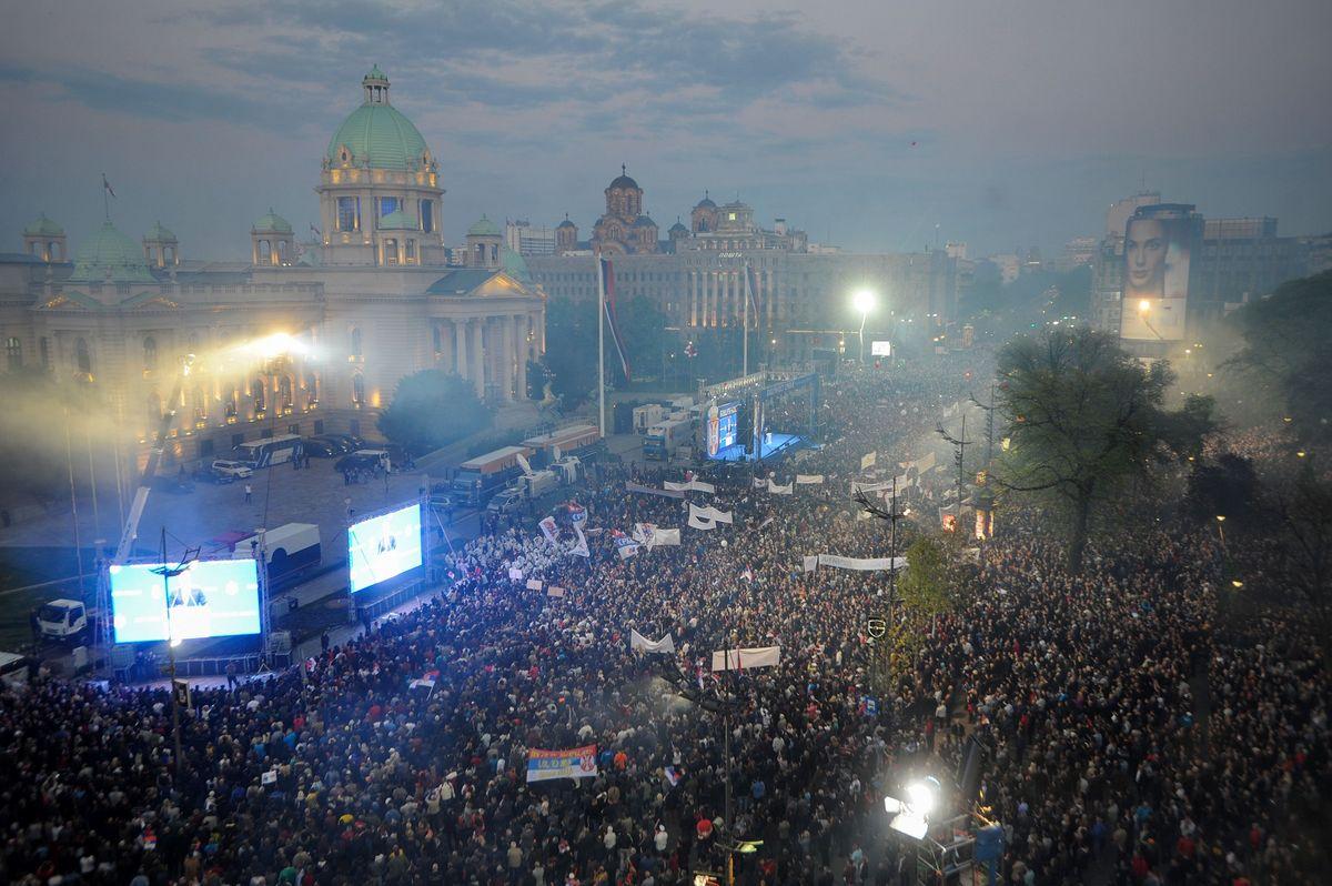 Obraćanje predsednika Vučića na skupu u Beogradu, u okviru kampanje