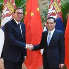 Predsednik Republike Srbije Aleksandar Vučić sastao se danas sa premijerom Državnog saveta Narodne Republike Kine Li Kećangom u državnoj rezidinciji u Tjenđinu