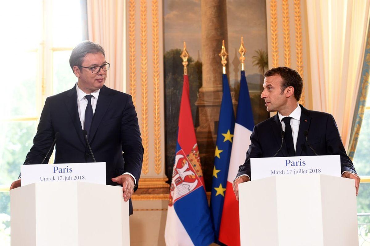 Председник Вучић у радној посети Паризу