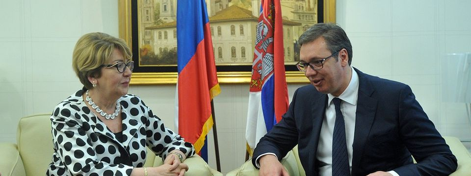 Састанак са директорком Федералне агенције Руске Федерације за послове Заједнице независних држава, сународника у иностранству и међународну хуманитарну сарадњу (Россотрудничество)